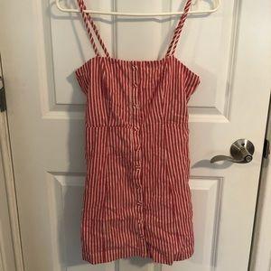 Salmon Striped Dress